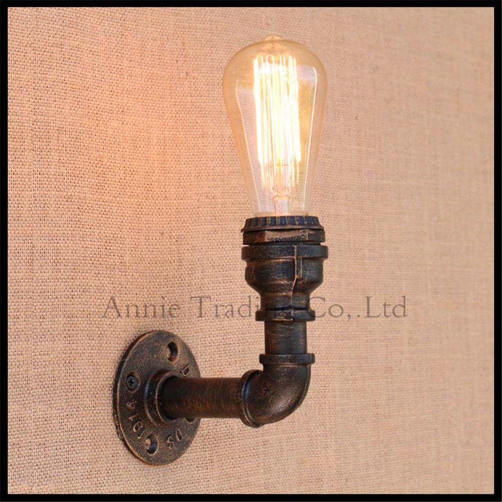 loft estilo industrial de la vendimia lmpara de pared lmpara de pared de la tubera de