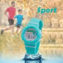 Спортивный студент, дети, часы детские часы для девочек и мальчиков часы Детские светодиодные цифровые наручные часы электронные наручные часы для подарка на день рождения