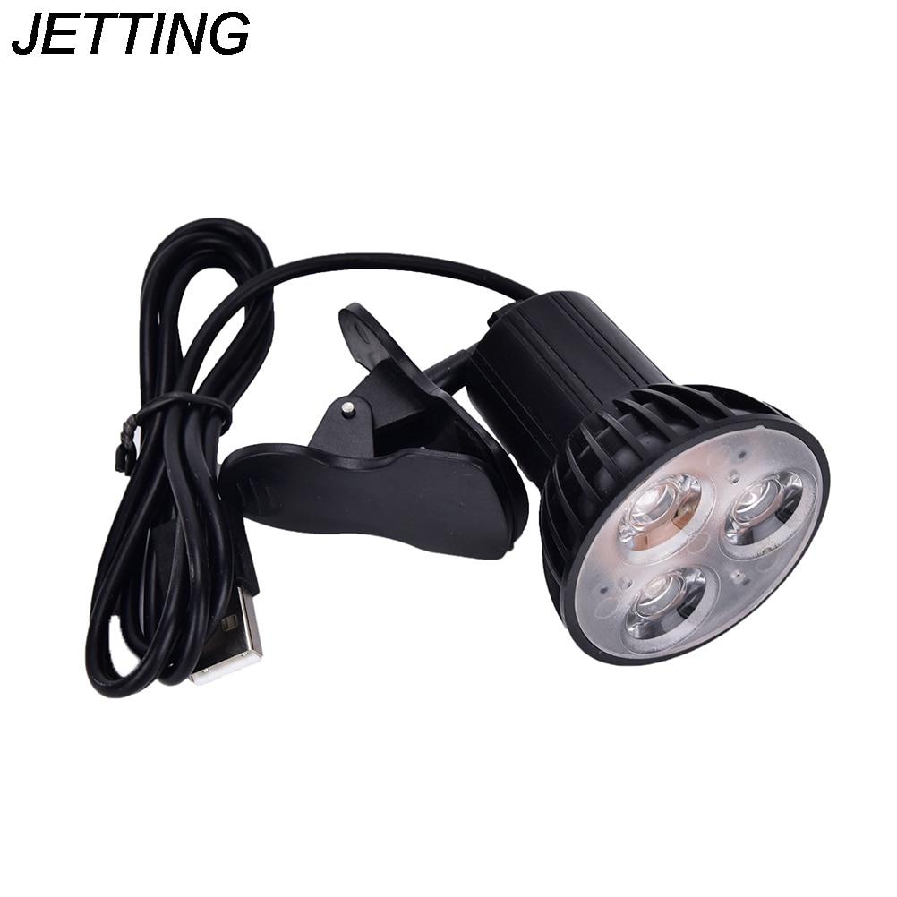 Flexible 3 LED Clip On Book Light Super Bright USB Light For Laptop PC Notebook Portable Desk Reading Lamp Indoor Lighting