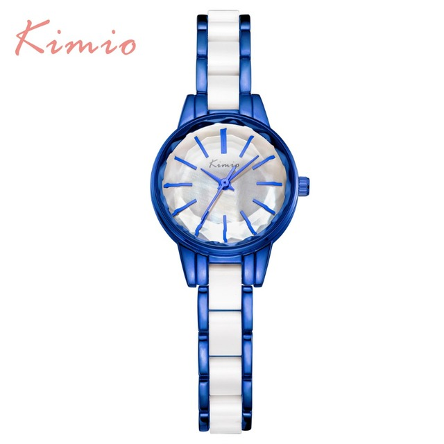 2018 New Brand Kimio Quartz-watch Ladies Imitation Ceramic Watch women Luxury Go