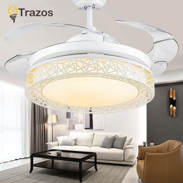 TRAZOS 36 אינץ LED תקרת מאוורר עבור סלון מאוורר אורות מודרני קירור תקרת אוהדי בית תאורה מאוורר מנורות גופי