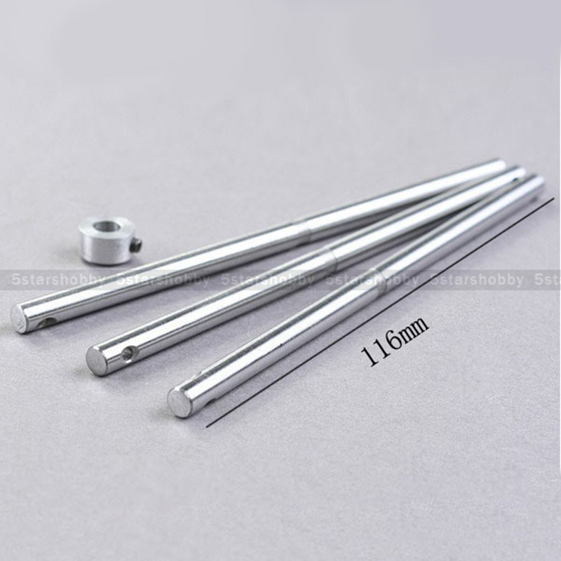 3Pcs 116mm Metal Main Shaft for Trex T-REX 450 V2 V3 helicopter цена и фото