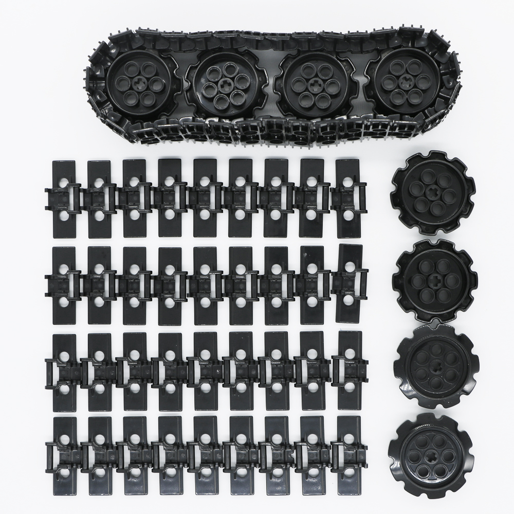 Technic MOC Caterpillar Track Building Blocks Digger Excavator Tank Wheel Accessory Brick Toy Compatible LegoINGlys Technic Part