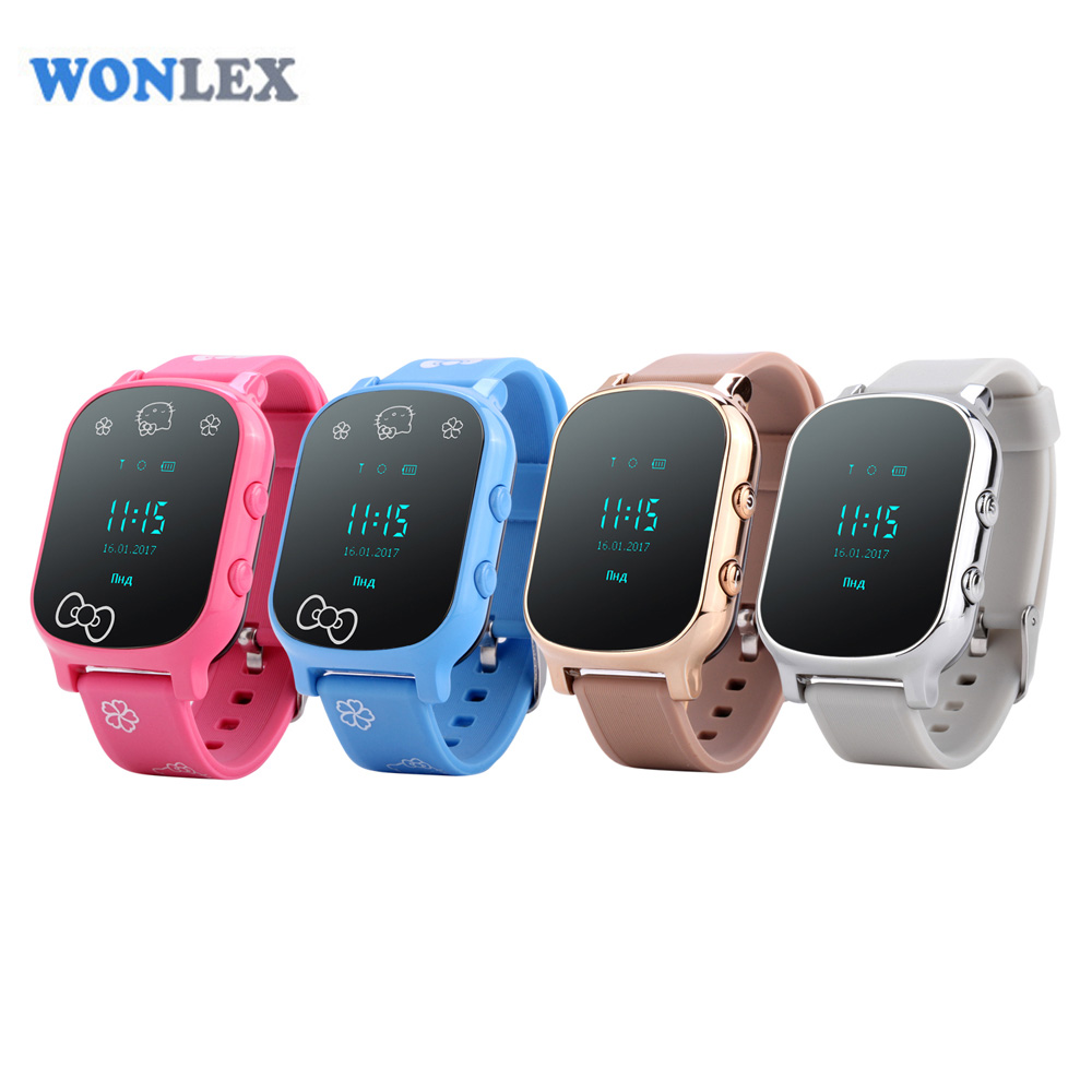 Wonlex 2016 г/м² GPS Tracker Часы 0.96 дюймов Экран gw700 SmartWatch телефон SOS ребенка отслеживания Часы Бесплатная доставка