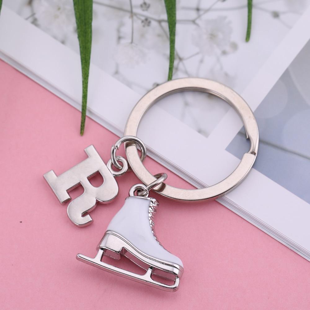 Angelhaken Brief Anhänger 26 Alphabet Initial Schlüsselbund Weiß - Modeschmuck - Foto 3