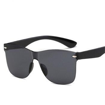 2018 New Transparent Sunglasses Women Vintage Colorful Retro Fashion Rimless Sun Glasses Women's Brand Eyewear Oculos De Sol
