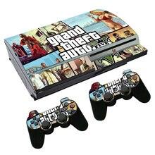 Grand Theft Auto V GTA 5 Наклейка для PS3 Fat PlayStation 3 консоль и контроллеры для PS3 Скины Наклейка виниловая пленка