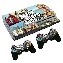 Grand Theft Auto V GTA 5 Skin Sticker Decal for PS3 Fat PlayStation 3 Console and Controllers For PS3 Skins Sticker Vinyl Film