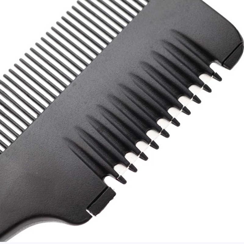 1 шт. профессиональная Бритва для волос, гребень с ручкой, бритва для стрижки волос, тонкая расческа, черный дом, сделай сам, тонкий триммер, внутренние лезвия P20, Новинка