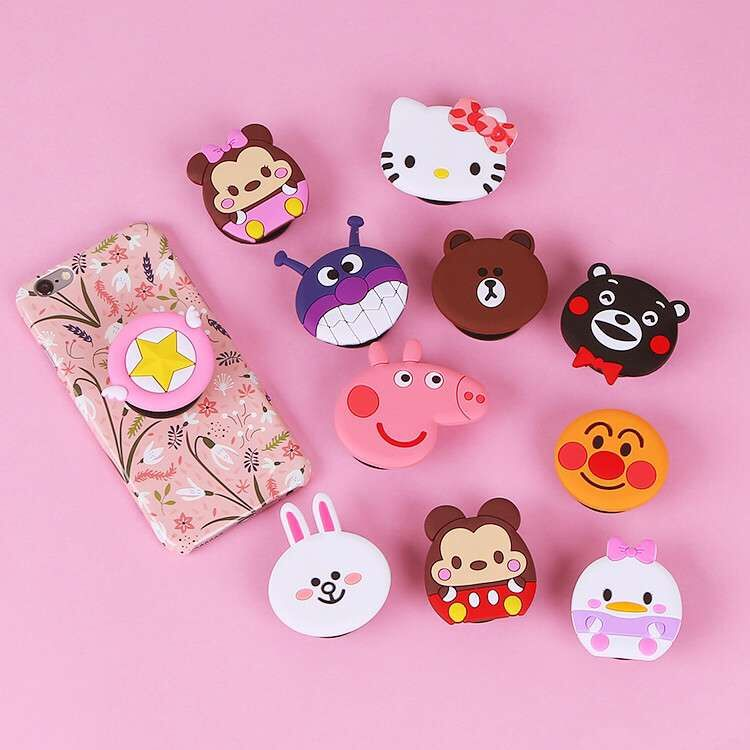 2018 New Air bag cell phone bracket Cute Silicone holder Earphone Headphone Cable Winder Silicone Cord Holder For iPhone Samsung