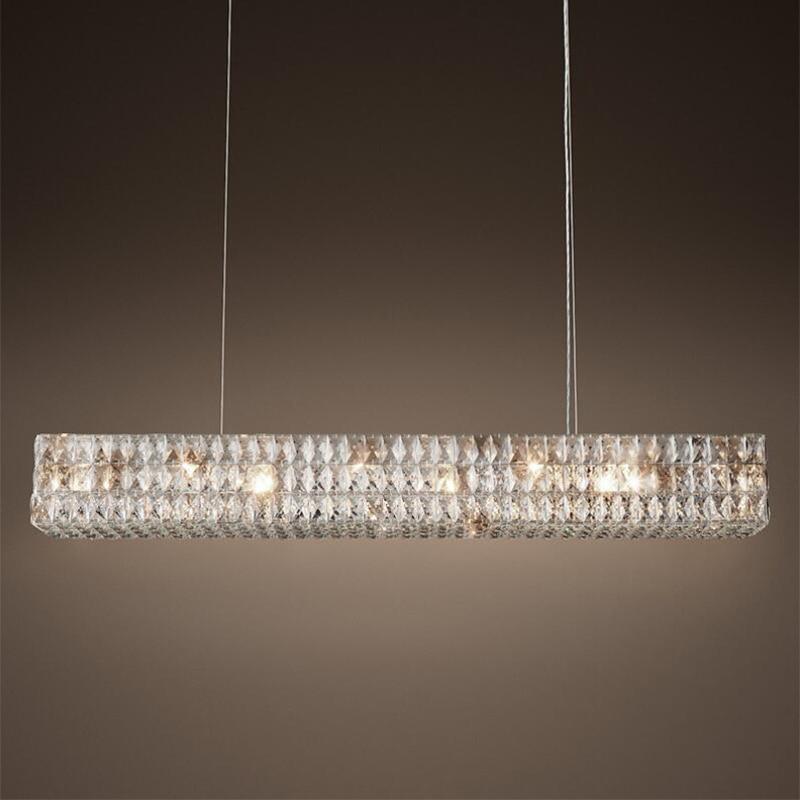 Jmmxiuz New Rectangular Pendant Lights Modern Lamp Ac110v: Jmmxiuz Modern New Rectangular Crystal Chandelier Original