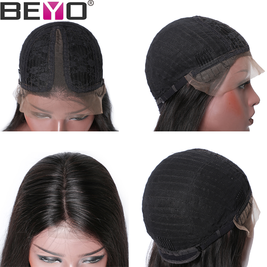 T Part Straight Lace Frontal Wig Lace Front Human Hair Wigs For Black Women Brazilian Lace Wigs Remy Wigs 150 Density Beyo Hair
