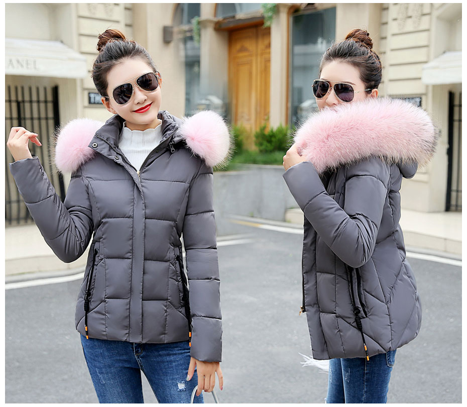HTB1kJRMFL5TBuNjSspmq6yDRVXaa 2019 Winter Jacket women Plus Size Womens Parkas Thicken Outerwear solid hooded Coats Short Female Slim Cotton padded basic tops
