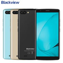 BLACKVIEW A20 Mobile Phone 5.5 inch Screen 1GB RAM 8GB ROM MTK6580M Quad Core Android GO Dual Rear Camera 3000mAh Smartphone