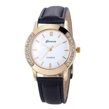 Hot hothot sales women diamond analog leather quartz wrist watch watches business classic simple girl round.jpg 350x350