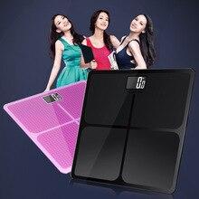 Новые бытовые напольные весы Электронные цифровые весы для ванной ЖК-дисплей тела весы 180 кг = 400lb/0,1 кг
