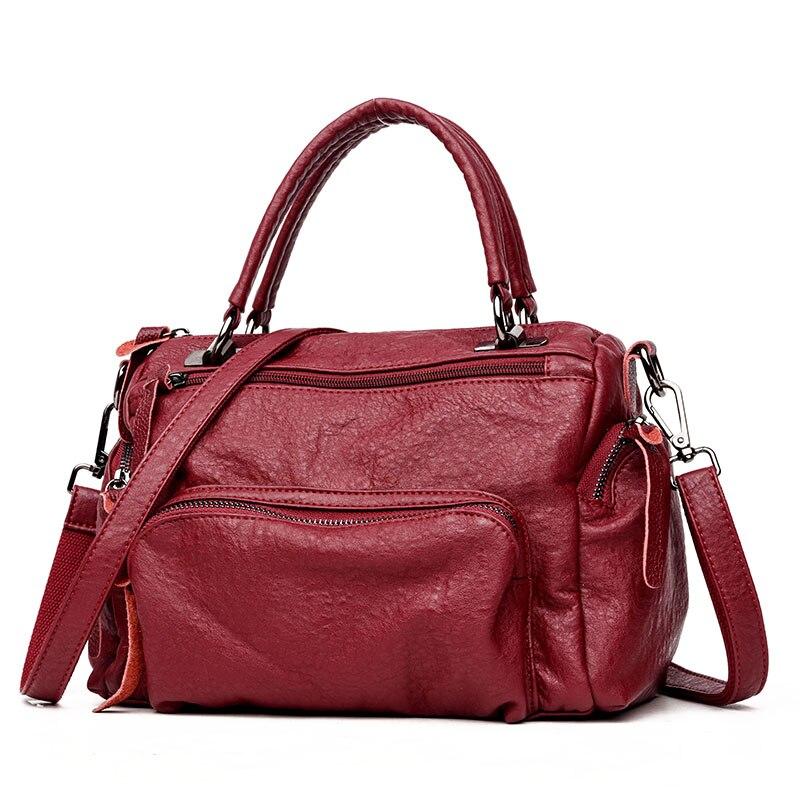 Woman Shoulder Bags Female Casual Shoulder Bag Portable Women Big Capacity Tote Bag Soft Leather  Ladies Handbag Bolsas