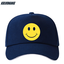 KOLVONANIG Fashion Smiling Face Print Baseball Cap Women/Men Adjustable Cotton Sport Hat Unisex Sunshade Sun Visor Hats