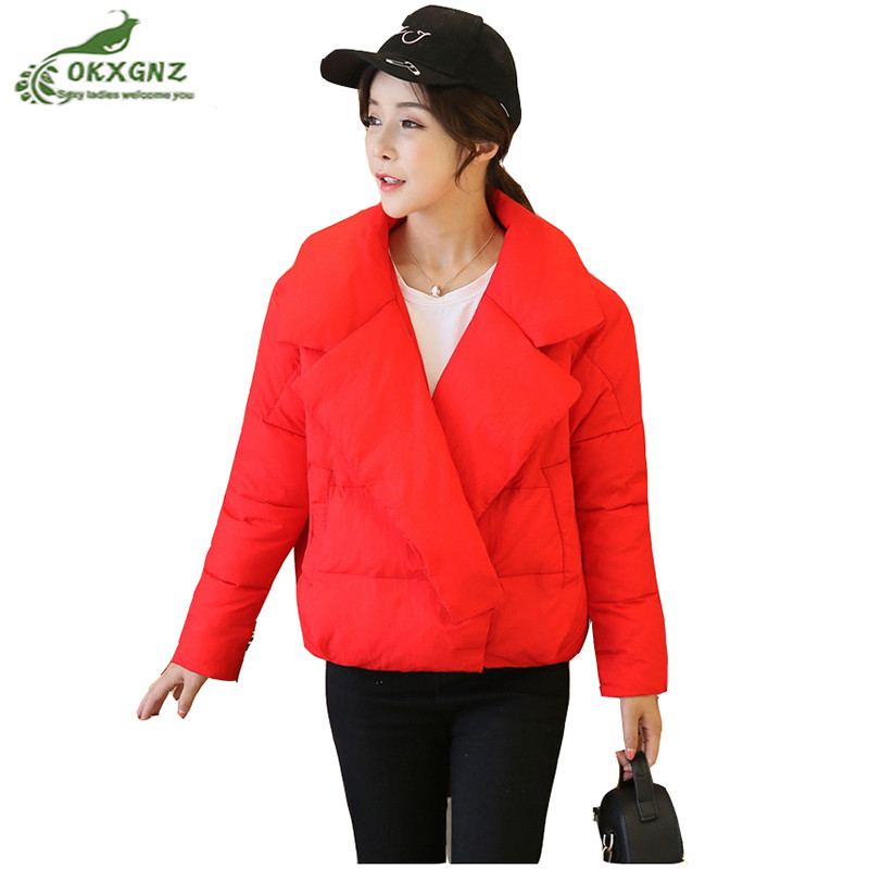 New winter White duck down cotton Outerwear female short hooded High end loose jacket coat women fashion warm jacket OKXGNZ high quality winter down cotton coat female medium long hooded collar jacket coat new women white duck down jacket okxgnz af353