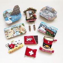 Switzerland Lu Lake Lucern Zurich World Travel Fridge Magnets Cuckoo Clock Refrigerator Magnetic Sticker Souvenir Milk Chocolate(China)