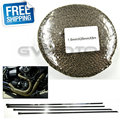 Titanium CAR MOTORCYCLE Incombustible Turbo MANIFOLD HEAT EXHAUST THERMAL WRAP TAPE & STAINLESS TIES 1.5mm*25mm*5m FREE SHIPPING