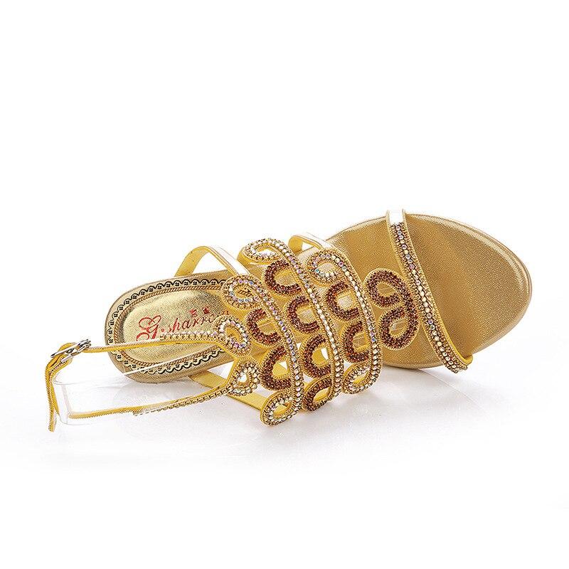 À Diamant Mode De Femmes Mariage Creux Cristal Talons 2018 pourpre Ouvert sparrow Chaussures Bout Nouveau G Strass Or Or Élégantes Hauts tI7Oqg