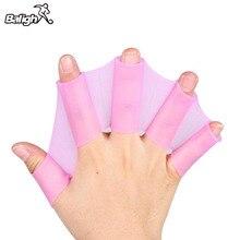 1 шт Силиконовые Плавательные пальчиковые перепончатые перчатки-ласты пальмовое весло торговля перчатки для серфинга Ручные Ласты
