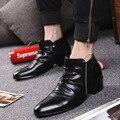"""Primavera y Otoño nuevos hombres """"s botas casuales estilo Coreano retro viento Británico Martin botas hombres botas de cuero de moda"""