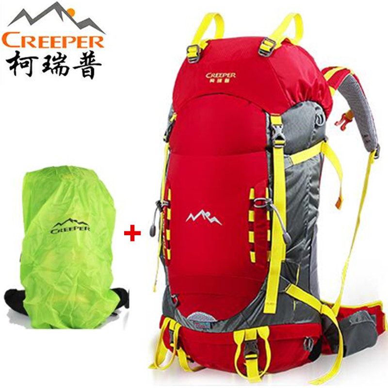 CREEPER hiking backpack Sport Bag Rucksack Backpack for Outdoor Hiking Travel Climbing Camping Mountaineering with Rain Cover 75l waterproof climbing hiking backpack rain cover bag women men outdoor camping climbing bag mountaineering rucksack