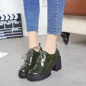 Image 3 - 春の 2019 新スタイル英語女の子厚いとセクシーなハイヒール学生のための女性の靴ファッション