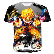 2018 New Dragon Ball Z T Shirts Men Super Saiyan Ultra Instinct Kids Goku Vegeta Printed Cartoon T-Shirt Top Tees Plus Size(China)