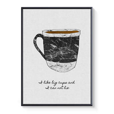 watercolor food cake coffee fruits quotes drawing canvas poster