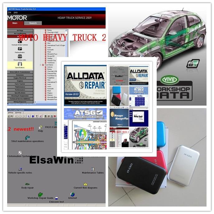 все данные про alldat 10.53 и Mitchell по требованию новейших авто ремонт программного обеспечения+мото+яркий семинар полный 49in1 с 1 Тб HDD