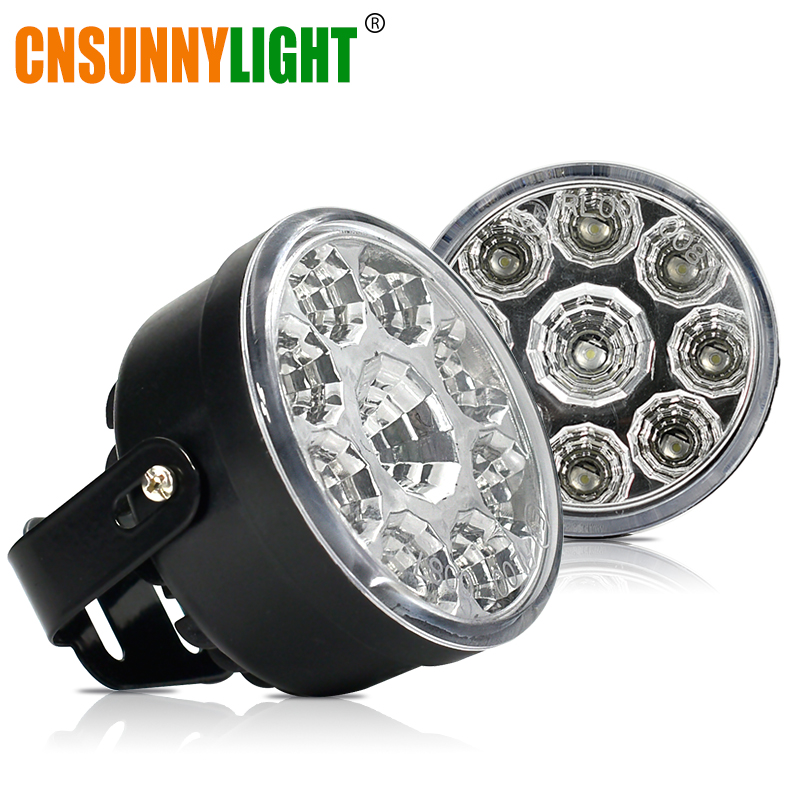 CNSUNNYLIGHT 2Pcs Car Daytime Running Light Assembly White 12V Auto DRL Fog Day Light Replace For Toyota Car-Styling Accessories