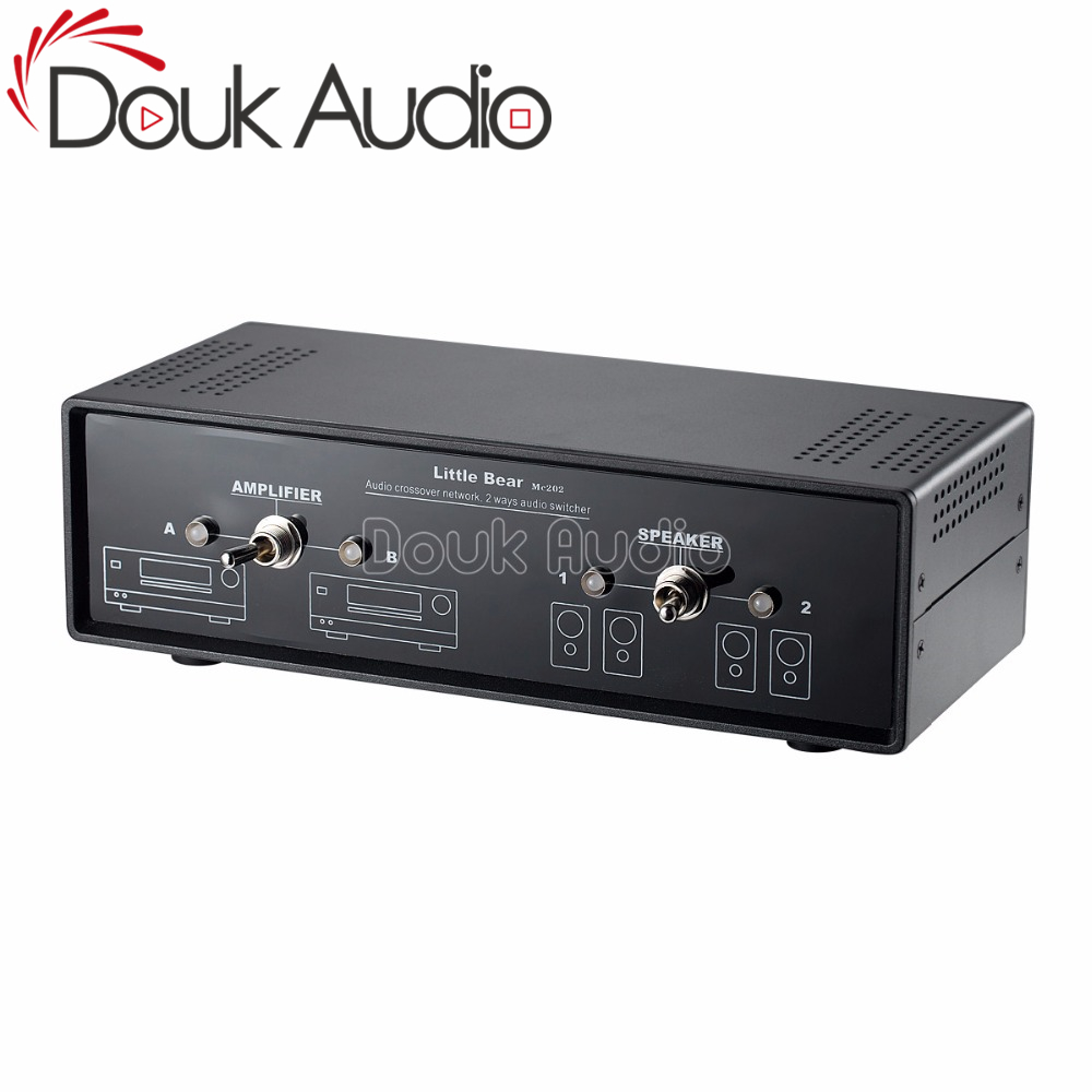 2018 Latest Douk Adio Comparator Crossover Network Stereo 2 Way Amplifier Speaker Switcher Passive Selector