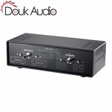 Douk Audio 2 Way Passive Audio Crossover Stereo Amplifier Selector Speaker Switch Splitter