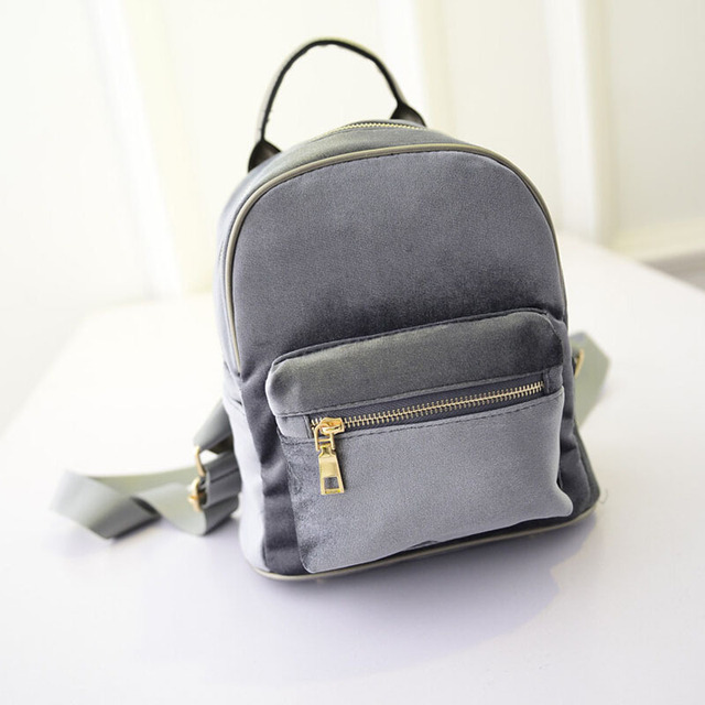 0db8c1eb34 Women Mini Backpack Cute Solid Leather Small Rucksack Laptop Bag Back Pack  Shoulder Straps For Teenage