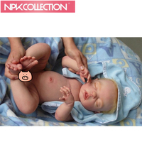 Silicone Reborn Baby Doll Kit Accessories,DIY Vinyl Silicone Reborn Baby Sleeping Doll Mold Lifelike Handmade Doll Kit