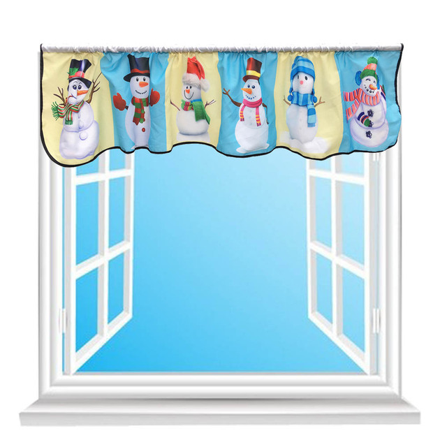 Merveilleux 2017 New Arrival Decorative Christmas Santa Claus Snowman Design Tapestry  Window Kitchen Cortina Valance Curtain For
