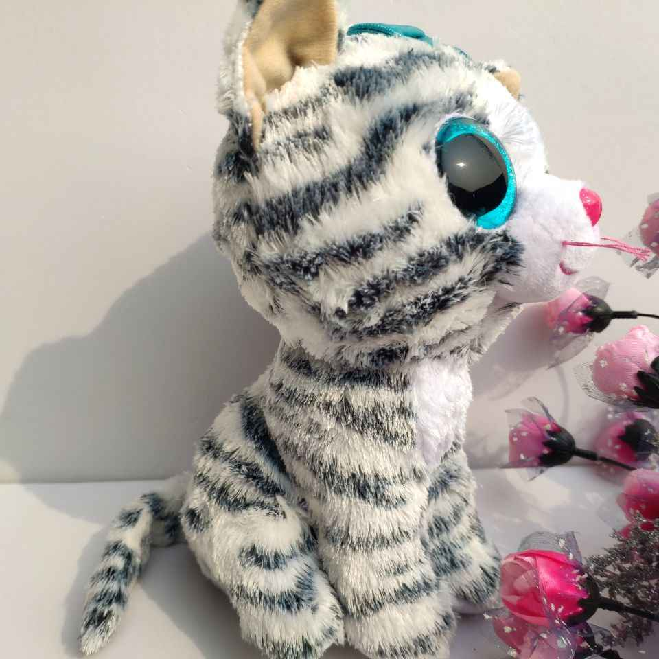 Quinn кошка с тегом label TY бини Боос Коллекция 1 шт. 25 см большой глаз плюшевые игрушечные лошадки мягкие животные Дети игрушечные лошадки подарок