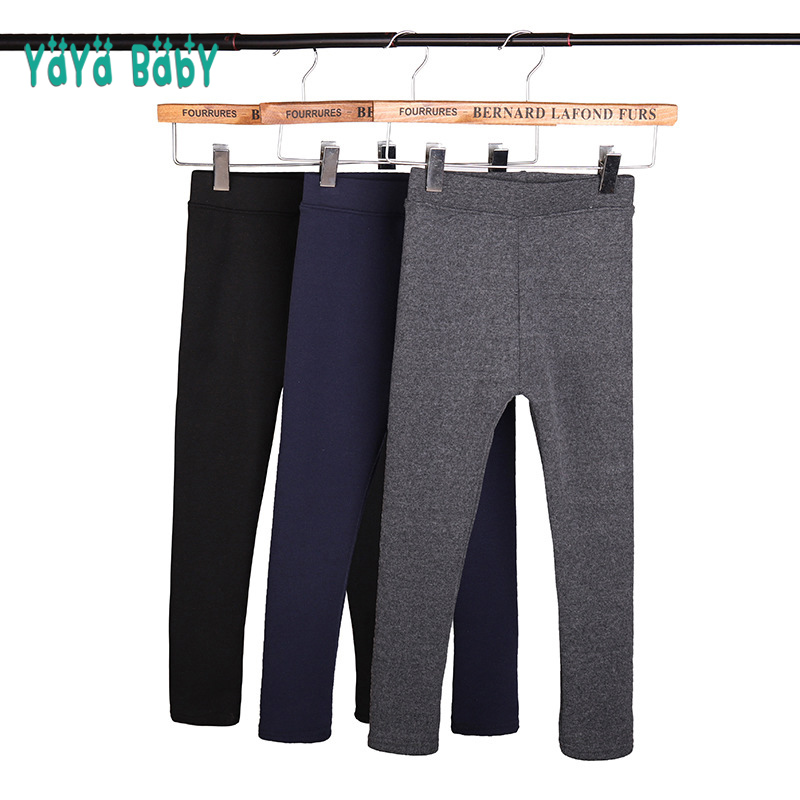 Thick Warm Girls Leggings New Autumn Winter Kids Leggings for Girl 2 3 4 5 6 7 8 9 10 11 12 Year Children Casual Trousers Pants цена 2017