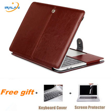 Hot Laptop luxury Smart for new pro touch bar case PU leather for Macbook Air Pro Retina 11 12 13 15 inch Bag keyboard cover