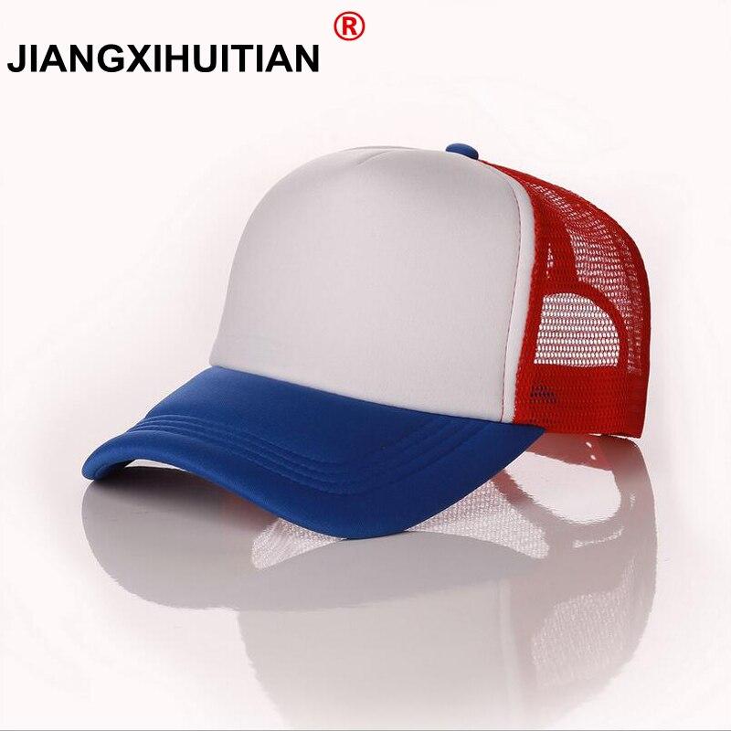 new Dustin Stranger Things Dustin baseball Cap Hat 100%Copy Cosplay Coser Dustin Summer Snapback Mesh Net Trucker Hat Cap Men