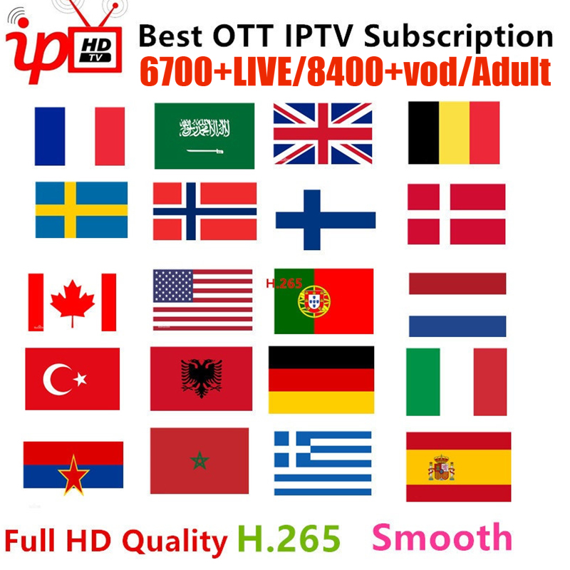 IPTV M3U Subscription IPTV For Europe Arabic Asian Africa France USA CA Latin 6700+Channels Support Android IOS Mag Smart TV