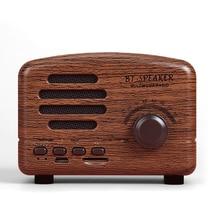 Mini portátil de madera inalámbrico Bluetooth Vintage Radio FM con altavoz de bajos fuertes soporta tarjeta TF