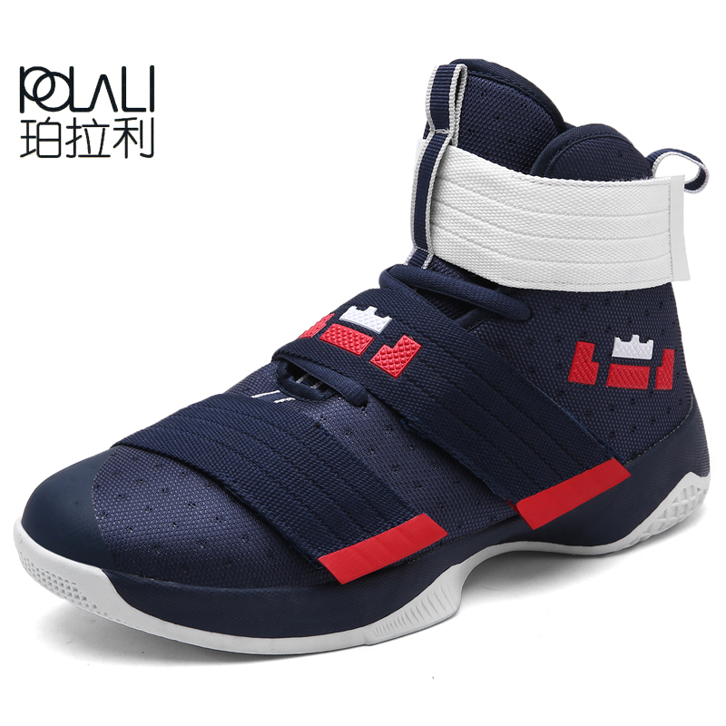 POLALI 2019 Men Basketball Boots High Top Men Basketball Shoes Rubber Sole Man Ball Ankle Boots High Quality Basket Sneakers