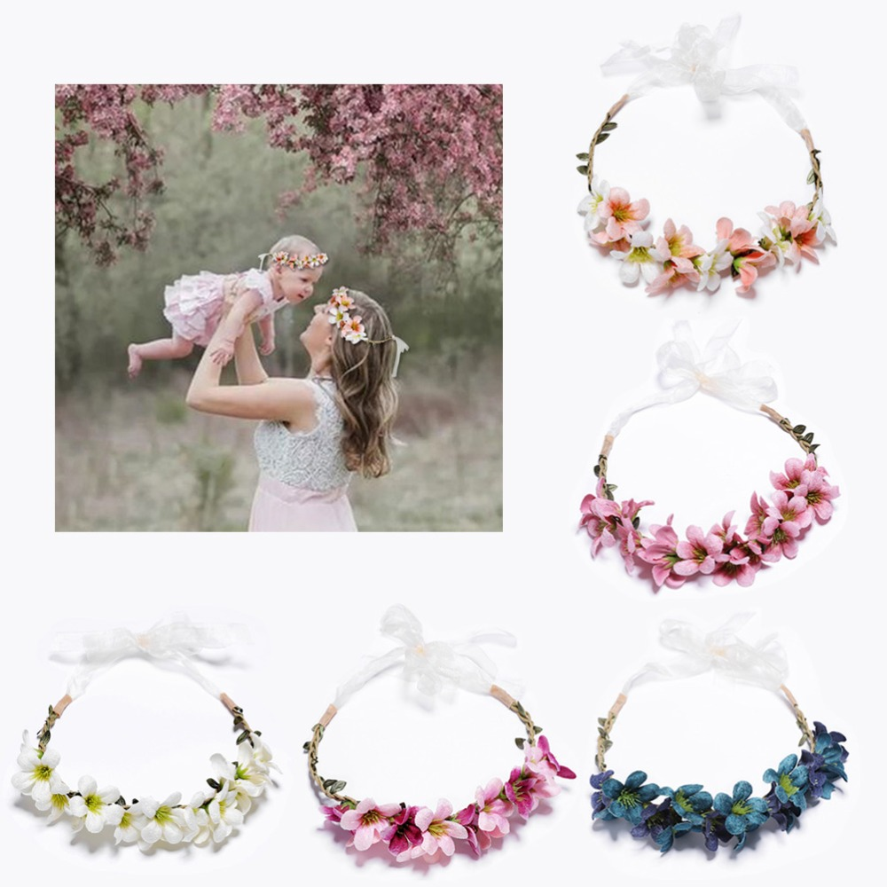 New Arrivals Flower Headbands For Girls Kids Flower Headband Baby Hair Bands Mommy & title=