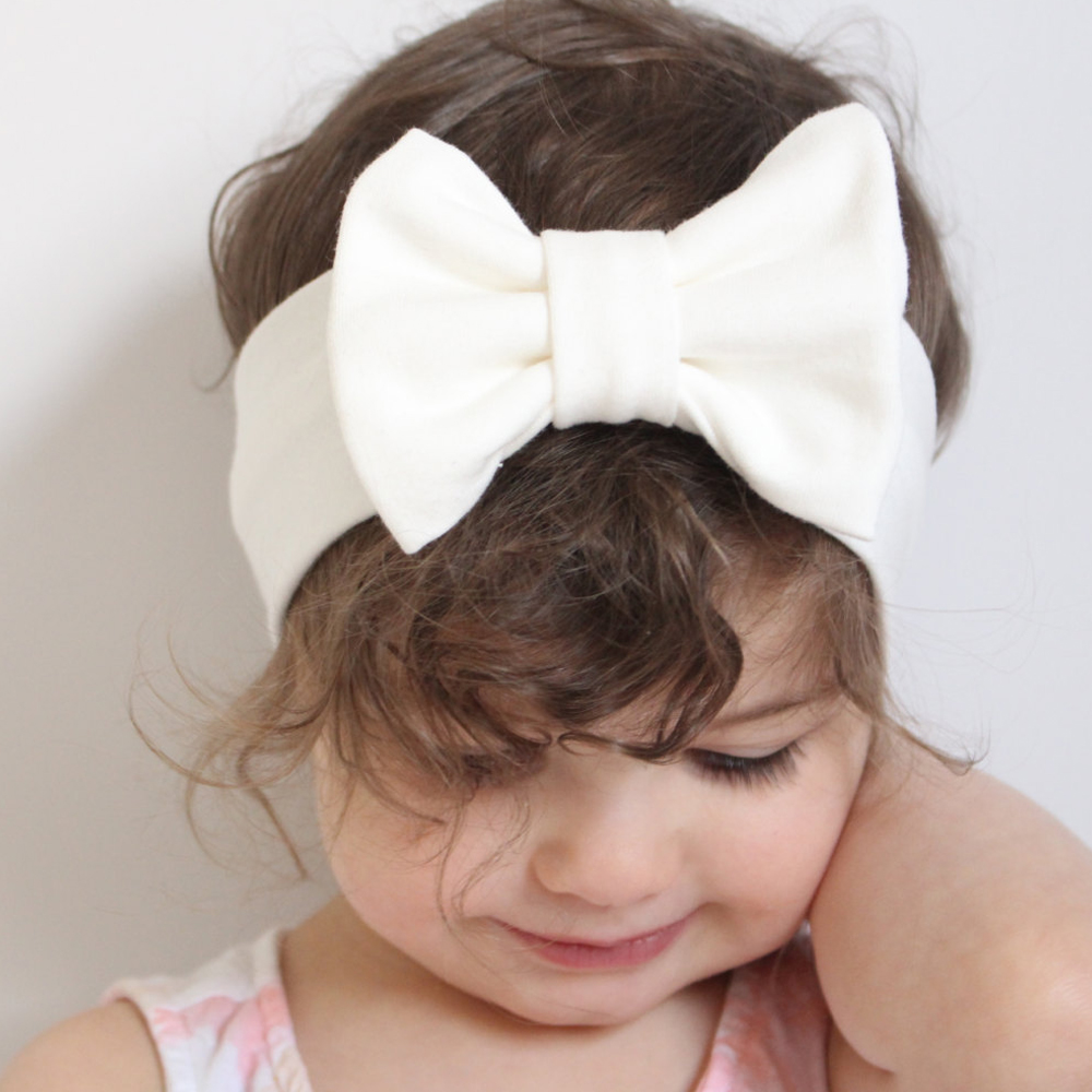 Newborn Large Bow knot Headband Candy Colors Infant Fabric Cotton Headbands Bebes Head Turban Solid Children Top Bows   Headwear