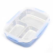 Lunch Box Stainless Steel Portable Picnic Office School Food Container With Compartments Microwavable Thermal Bento Box(China)