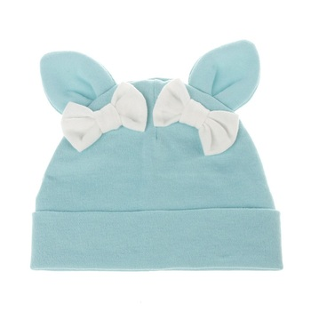 Partisig Baby Girl Hat Rabbit Ear Hat For Girls Cotton Bow Knot Kids Hat Children's Hats Caps 1